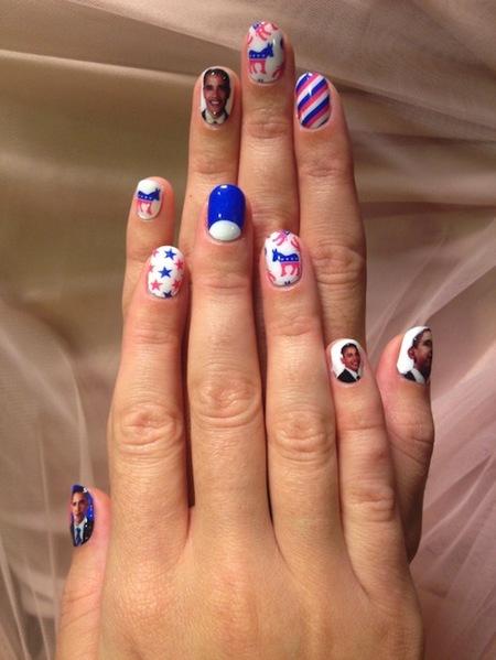 Katy Perry votará a Obama. O al menos eso nos dicen sus uñas