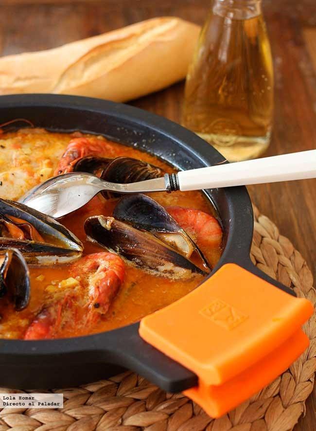 Cazuela de pescado y marisco receta de cocina f cil for Canelones de pescado y marisco