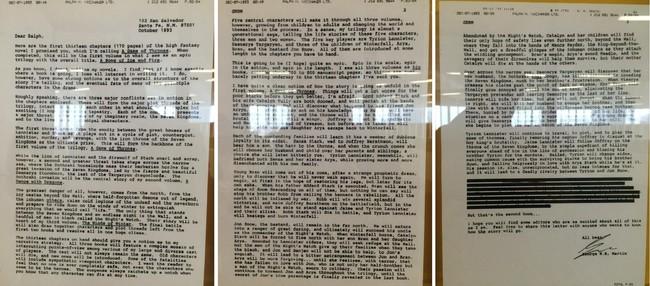 Carta de George R. R. Martin