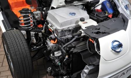 Nissan LEAF seccionado motor