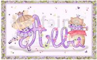 Láminas personalizadas con el nombre del bebé