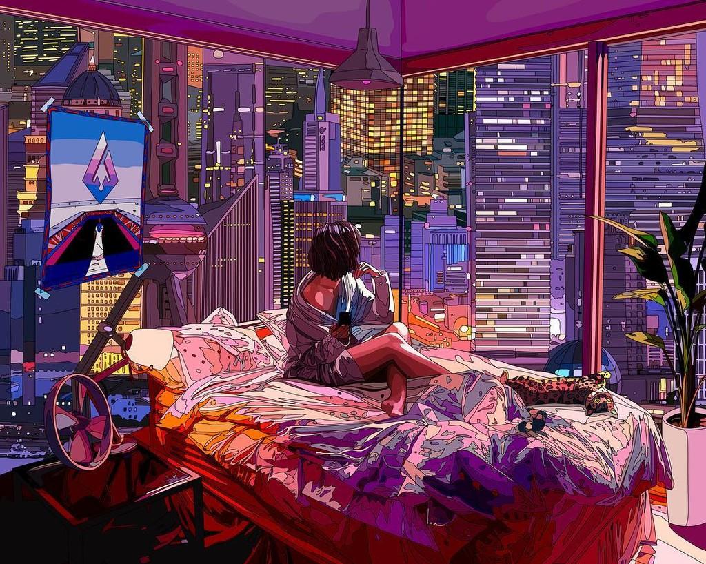 Si buscas el wallpaper perfecto echa un vistazo a las ilustraciones cyberpunk de Mad Dog Jones