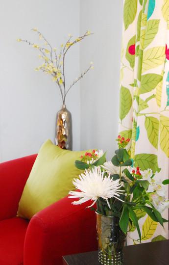 Foto de Un salón en rojo y verde (5/5)