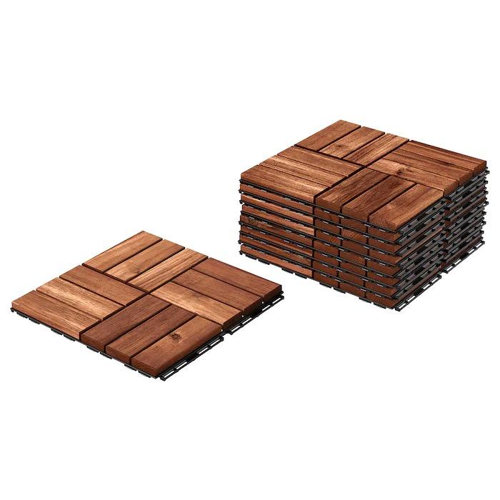 RUNNEN Suelo exterior / suelo terraza, tinte marrón 0.81 m²