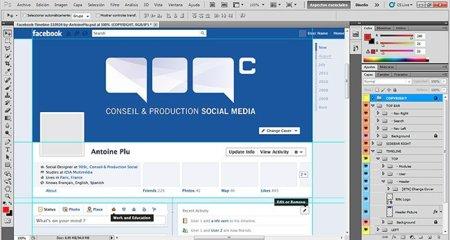 Prepara y diseña tu Timeline de Facebook con una plantilla para Photoshop