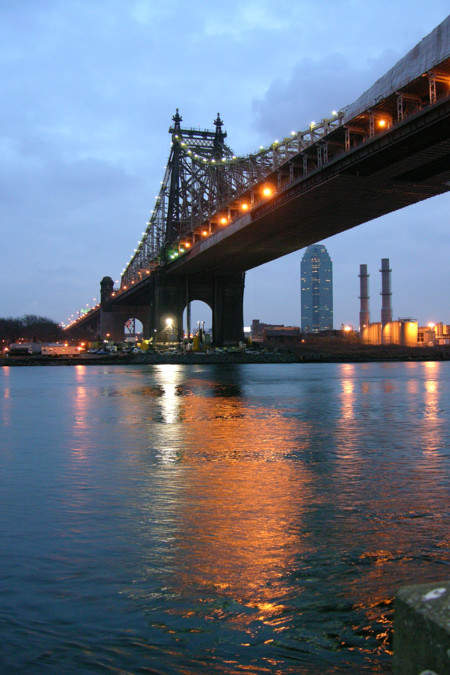 Queensboro Bridge From Roosevelt Island Night