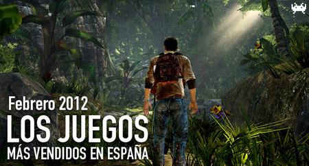 Los juegos más vendidos en España en Febrero 2012: la versión portátil de Nathan Drake lo parte