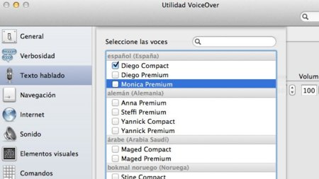 [Especial Mac OS X Lion] VoiceOver con más de 100 voces incluyendo tres en español y tres con acento mexicano