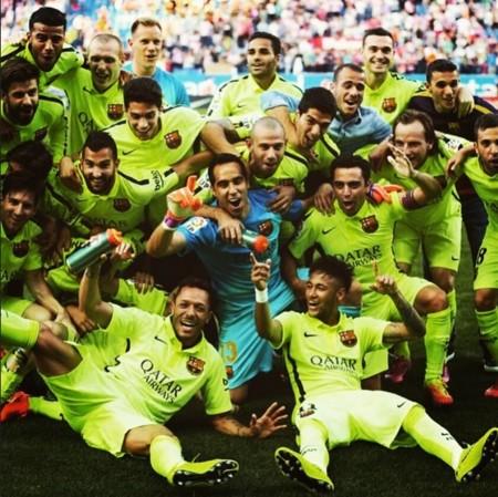 El Barça ganó la liga, y se revolucionó Instagram