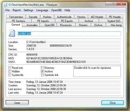 FileAlyzer: descubre toda la información sobre tus archivos en Windows