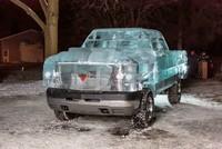 Esta camioneta de hielo os dejará helados