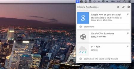 Google Now llega a Chrome de escritorio Windows y OSX