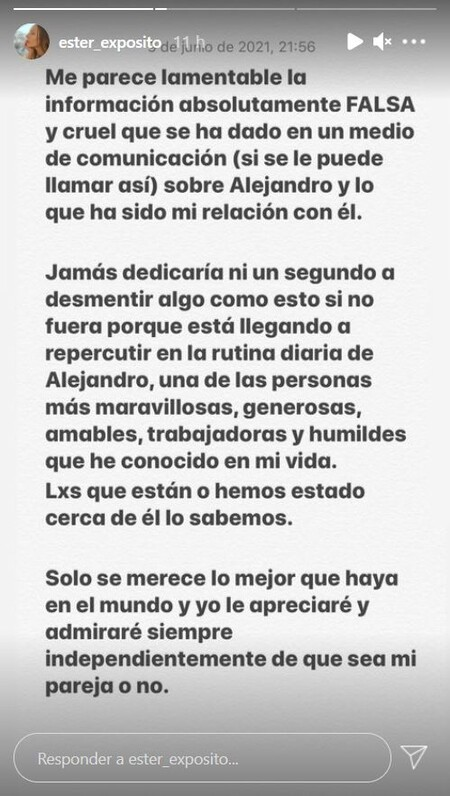 Ester Expósito Alejandro Speitzer