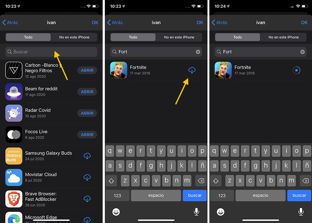 Cómo volver a instalar Fortnite en un iPhone o iPad si ya lo instalaste en el pasado