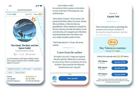 Kindle Vella para el móvil, primero en iPhone
