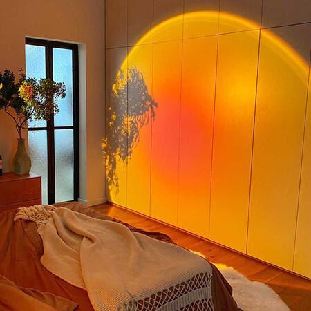 L Mpara Led De Noche De Ambiente Proyector De Atardecer De Arco Ris Para Casa Cafeter Jpg Q50