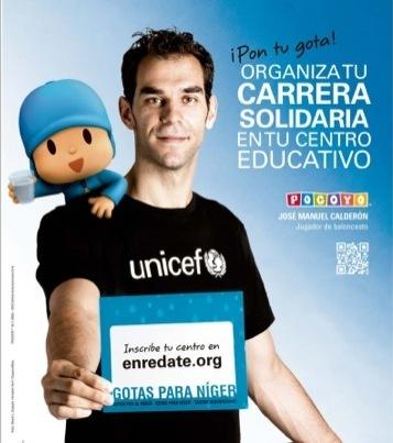 Pocoyó y José Manuel Calderón se unen con UNICEF en el proyecto Gotas para Níger