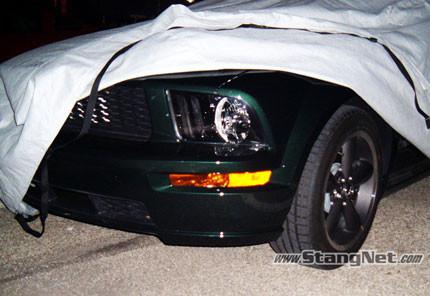 2008 Ford Mustang Bullitt cazado en la carretera