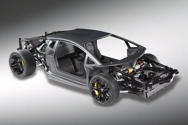 Chasis del Lamborghini aventador