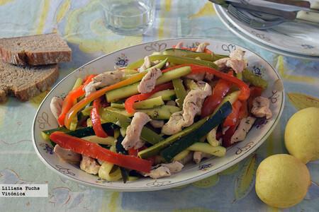 Salteado De Pollo Con Verduras Al Limon