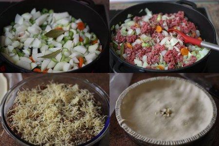 Receta de Pie de carne y cebolla. Pasos
