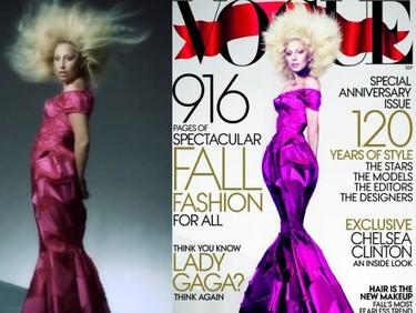 Y el premio a la más photoshopeada es para... Lady Gaga y su portada de Vogue