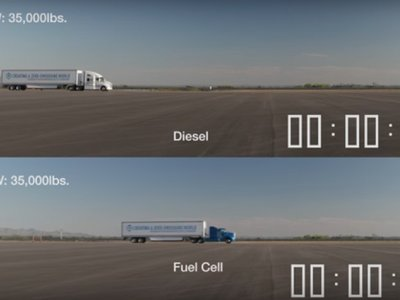 Así demuestra Toyota la aceleración de su camión de hidrógeno contra un diésel