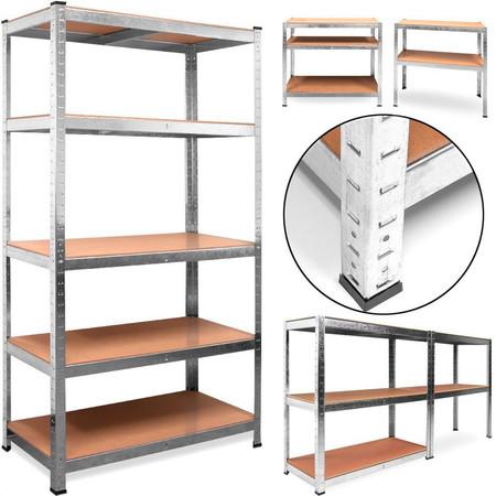 Ideal para organizar trasteros y garajes estas navidades: estantería metálica galvanizada de 5 baldas por 25,95 euros en eBay