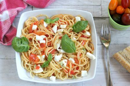 Receta de Spaghettoni alla caprese
