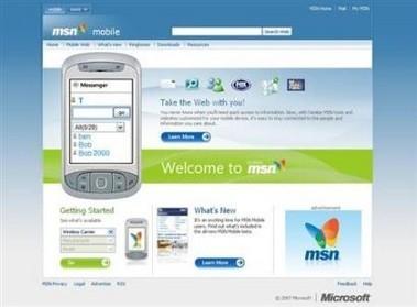 Nuevo portal MSN para móviles