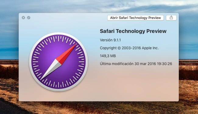 Ya está disponible la versión 11 de Safari Technology Preview