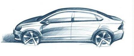 """Volkswagen Polo Sedán, el boceto """"oficial"""" se deja ver"""