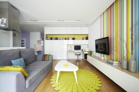 Puertas abiertas: un apartamento en Varsovia a todo color