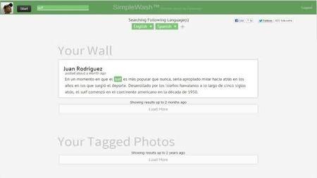 SimpleWash, servicio en línea para eliminar imágenes y publicaciones no deseadas de Facebook