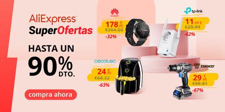 SuperOfertas en AliExpress con envío desde España: freidoras sin aceite Cecotec, smartwatches Huawei, consolas Nintendo y más