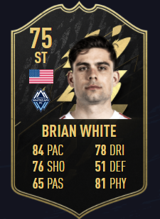 Brian White TOTW 3 FIFA 22 Equipo de la semana