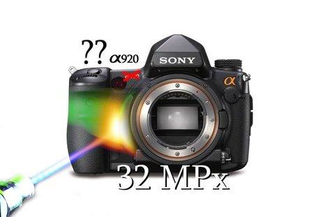 ¿32 Megapíxeles de fotograma completo en la Sony A920 DSLR en Agosto?