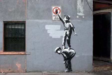 ¿Y si los grafitis de Banksy fueran Gifs?