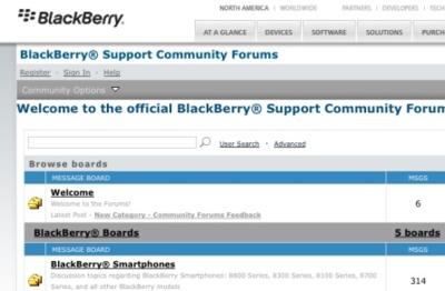 Foros oficiales de Blackberry