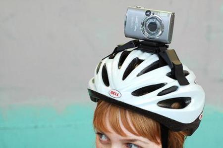 Happy Helmet Bike Camera Mount, soporte de cámara para el casco de la bici