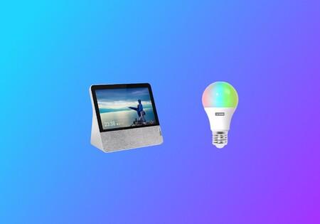 Lenovo Smart Display 7 + Lenovo Smart Bulb por 59 euros en Media Markt: Un chollo para domótica con Google Assistant y Chromecast