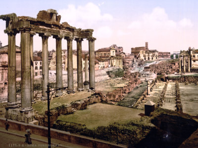 Roma, 1890: el esplendor decadente de la capital italiana, en fotos a todo color