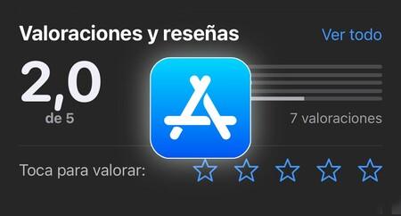 Apple permite valorar sus aplicaciones en la App Store y los usuarios las tumban a negativos