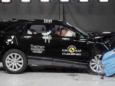El Range Rover Velar se convierte en uno de los SUV más seguros que haya evaluado Euro NCAP