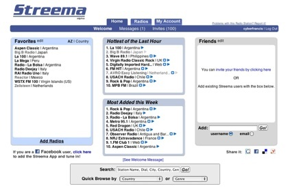 Streema, directorio social de estaciones de radio