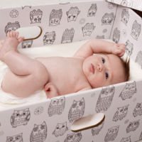 Los nuevos bebés gallegos recibirán una caja con regalos (aunque no podrán dormir en ella)