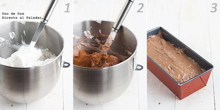 Bizcocho de claras y chocolate. Receta