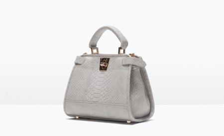 Bolso Mini Zara Gris