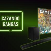 Televisor Samsung Neo QLED al 25% de descuento y con barra de sonido de regalo, hogar inteligente y más: Cazando Gangas