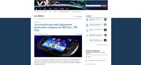 Nuevos cambios en el diseño de VidaExtra